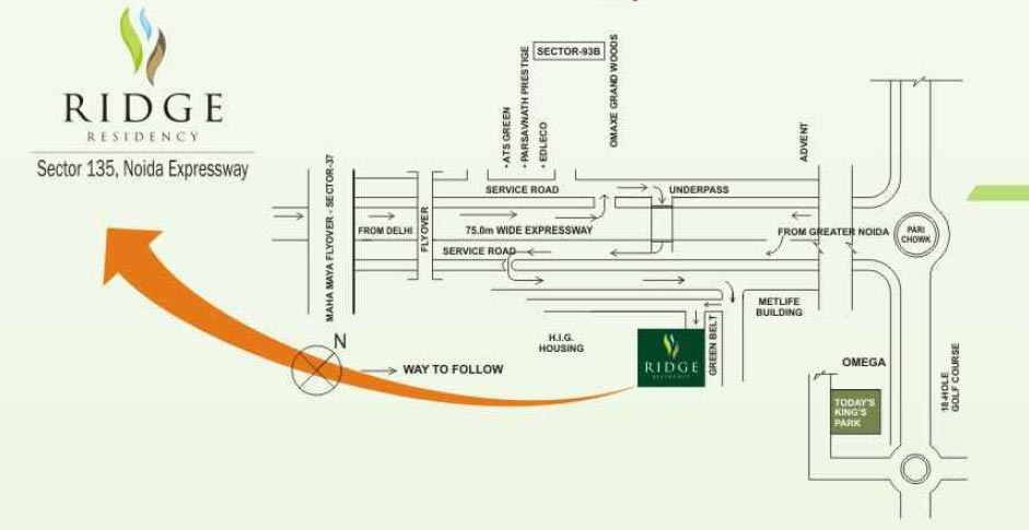 Today Ridge Residency Noida Location map